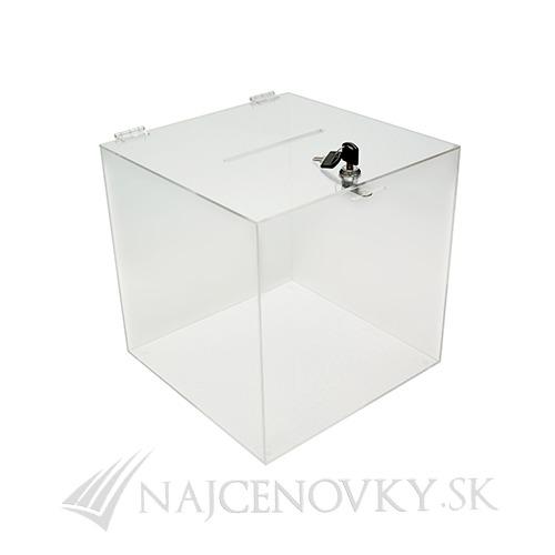 Plastová priesvitna krabica 25x25x25 cm