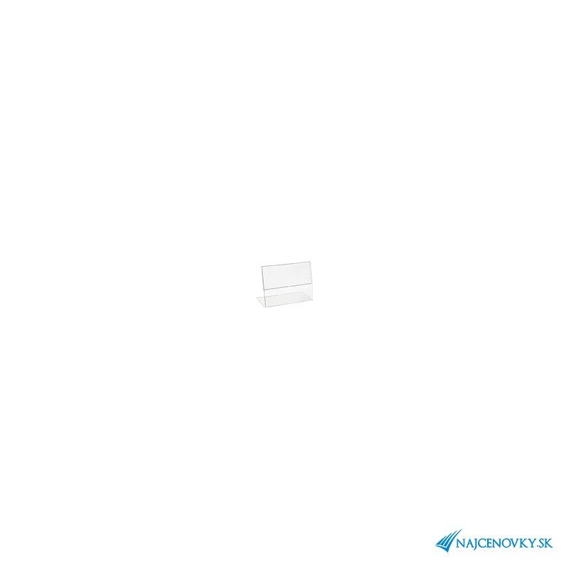 Stojanček na cenovku 8040mm z plexiskla - Najcenovky.sk