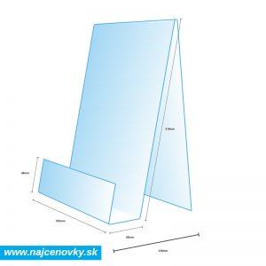 Stojan na brožúry A5 z plexiskla s rozmermi