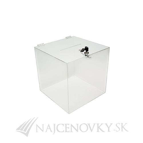 Urna 20x20x20 cm z číreho plexiskla