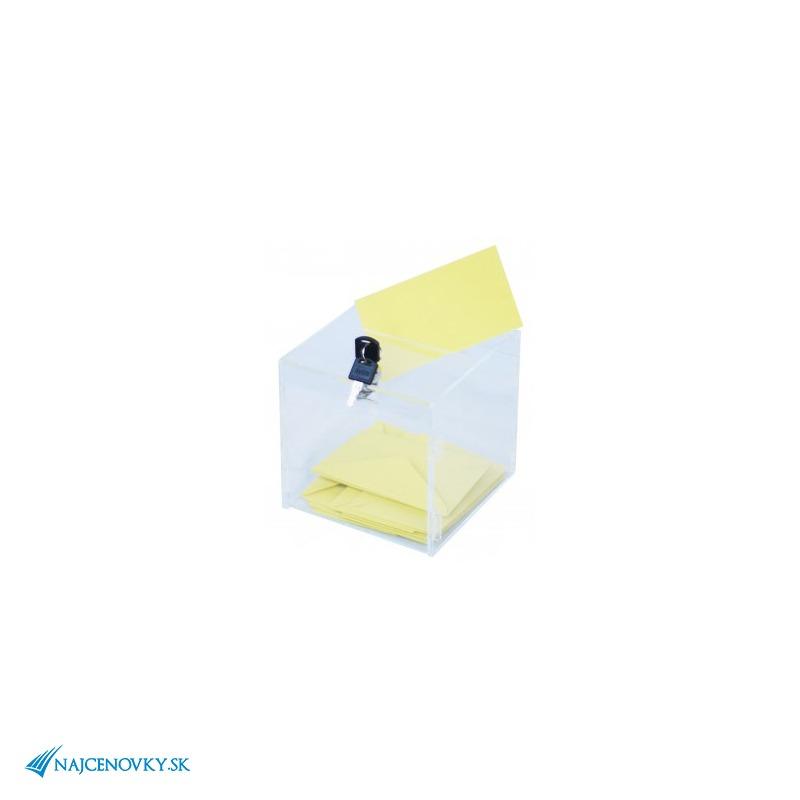 Číra plexi pokladnička 12x12x12 cm