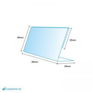 PVC cenovka 8x4 cm