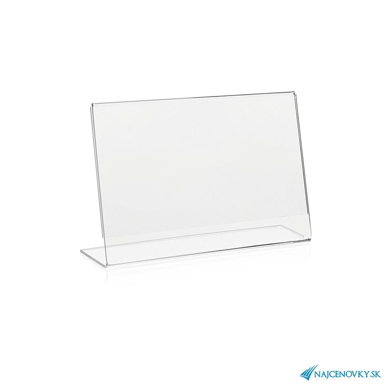 Stolový držiak A4 na šírku z plexiskla