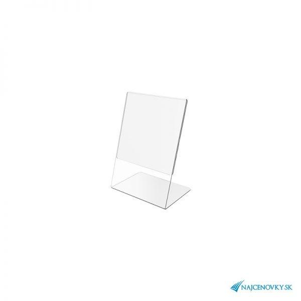 Stolový držiak A5 z plexiskla na výšku
