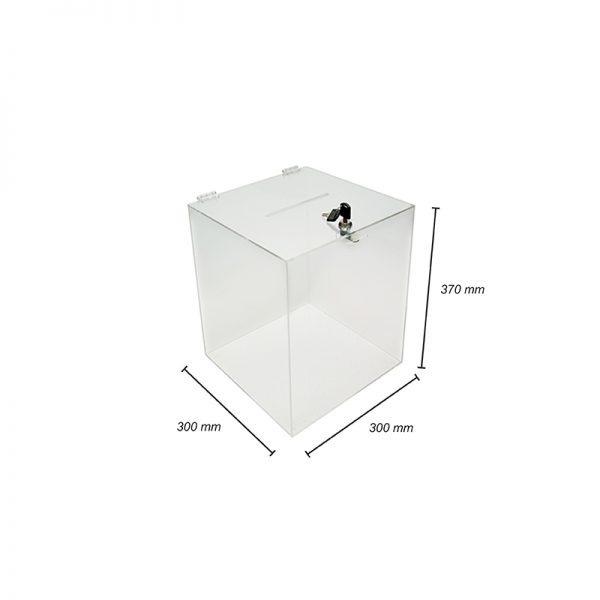 Hlasovacia urna 30x30x37 cm z plexiskla