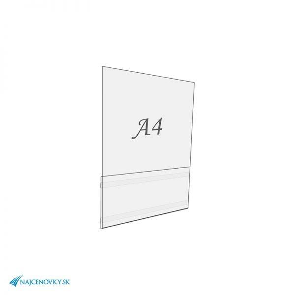 Plexisklová samolepiaca kapsa A4, na výšku