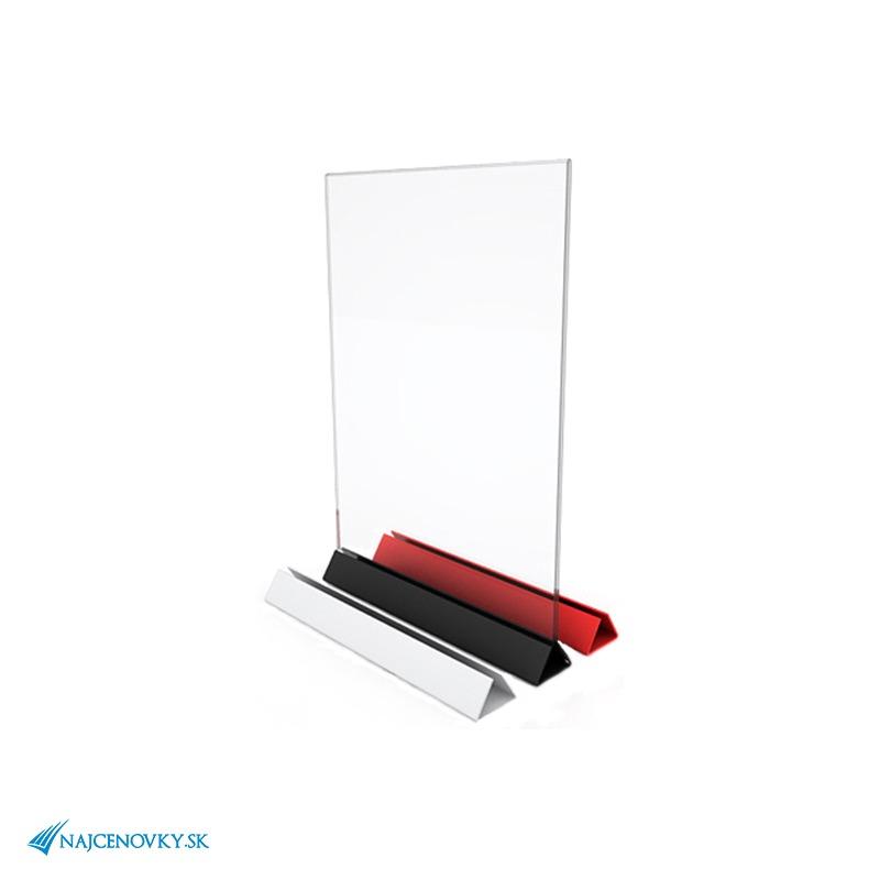 Plexisklový stojan na jedálny lístok A4, farebný