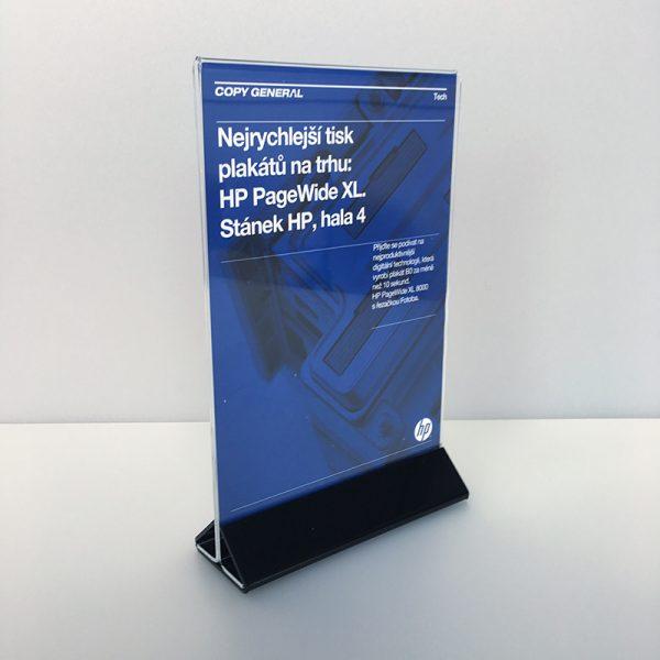 Plexisklový stojan na menu 1