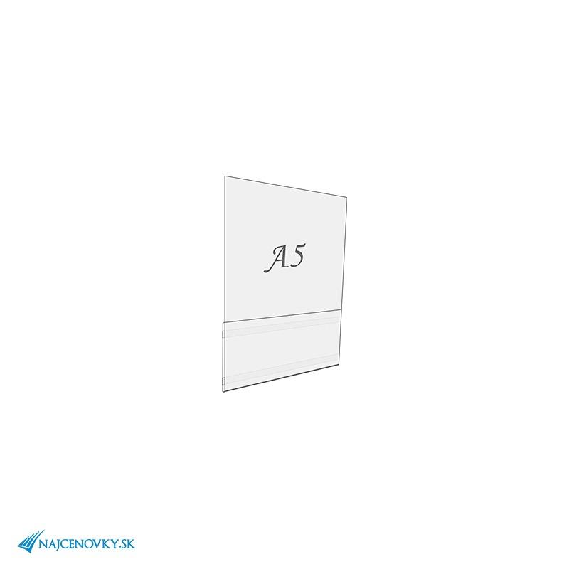Samolepiaca plexisklová kapsa A5, na výšku