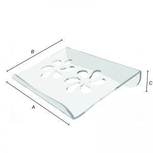 Stojan z plexiskla na 15 palcový notebook z rozmermi
