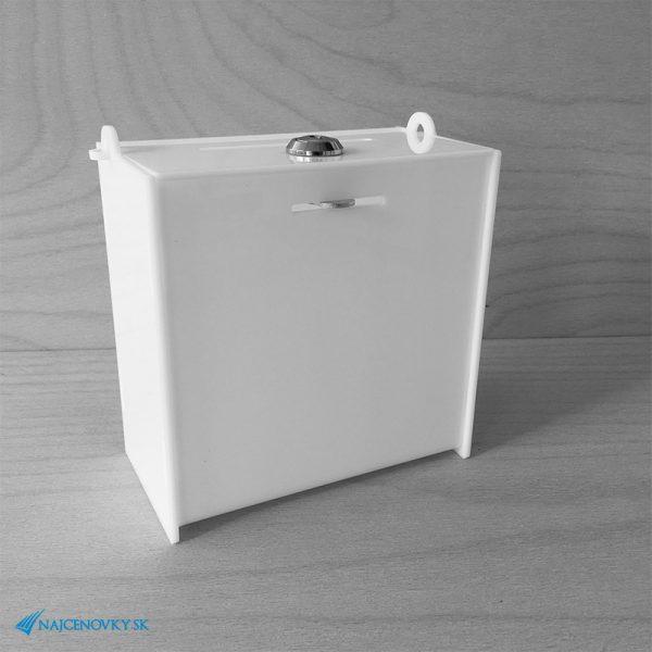 Uzamykateľný plexi box 15x8x15 cm, biely