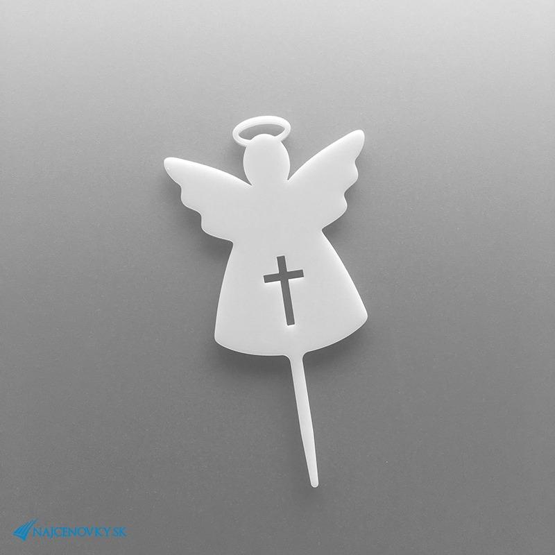 Zápich do torty na Prvé sväte prijímanie v tvare anjela