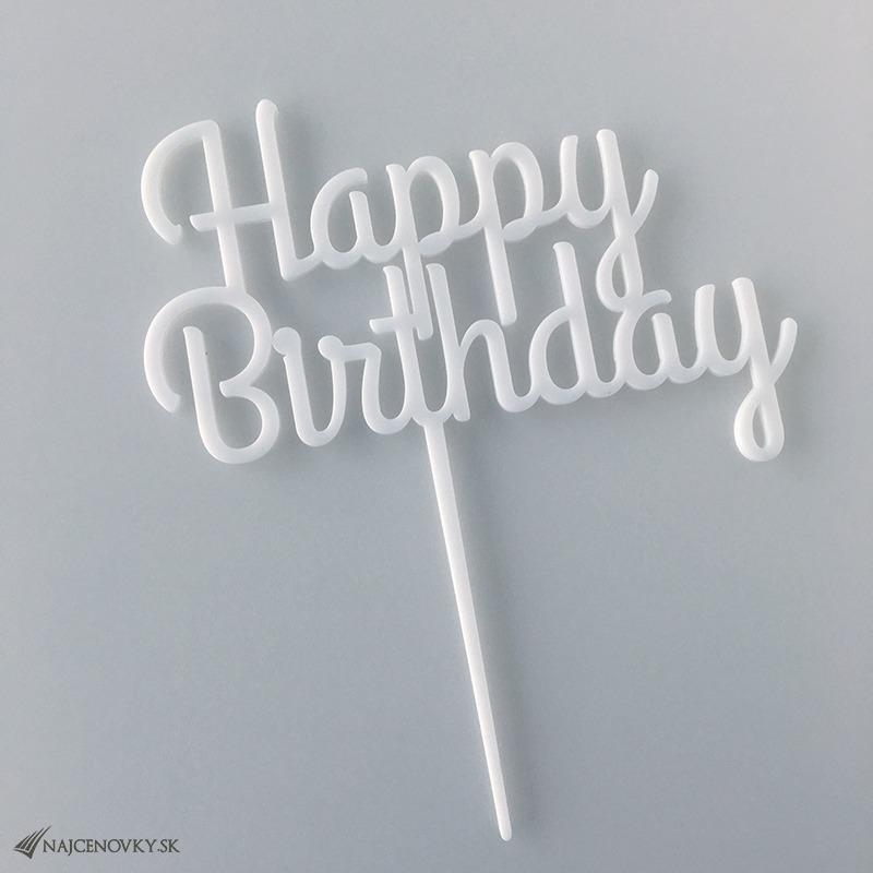 Zápichovačka do torty - Happy Birthday