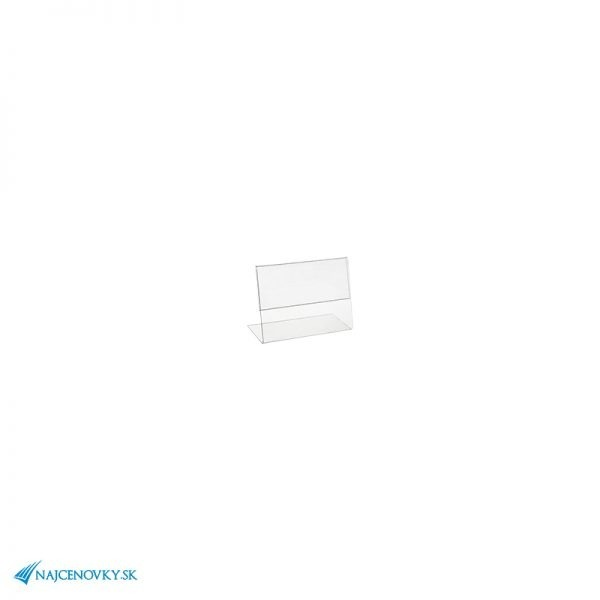 Plexi stojanček na cenovku 6×4 cm