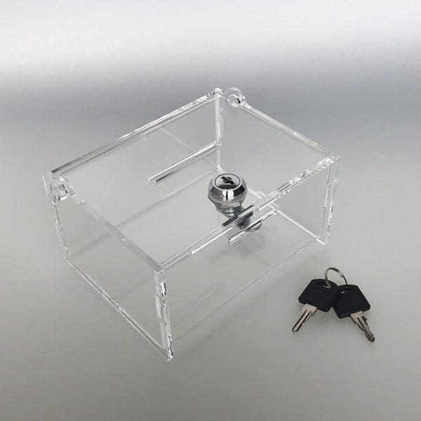 Uzamykateľná pokladnička 15x12x8 cm, hrúbka 4 mm