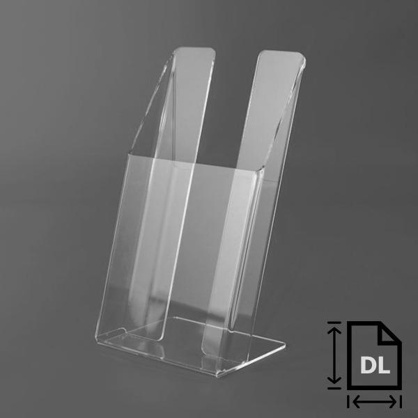 Plexi stojanček na brožúry DL, formát 99x210 mm